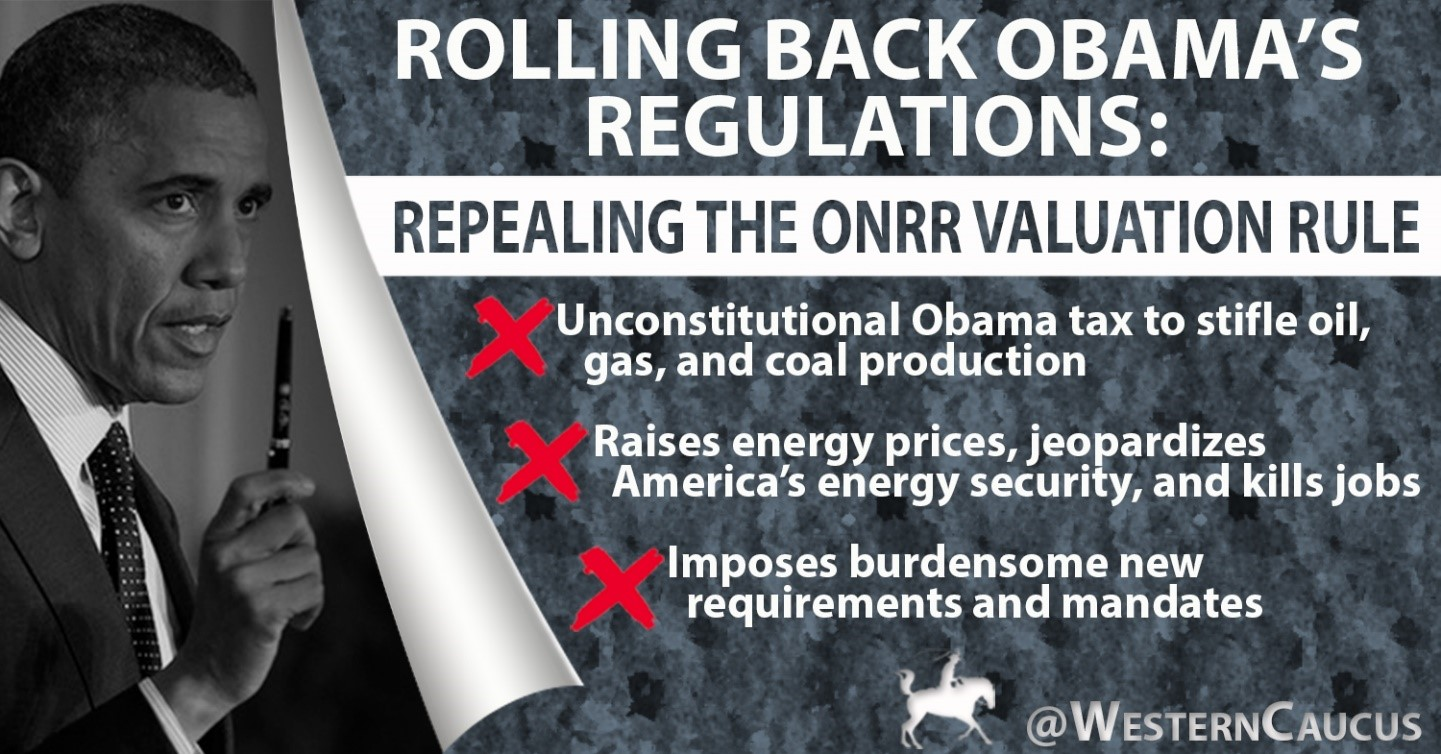 Caucus Members Applaud Repeal of Obama Admin's Energy-Stifling Valuation Rule